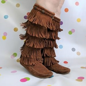 Minntetonka 1959 Five Layer Fringe Boot